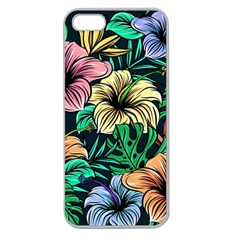 Hibiscus Dream Apple Seamless Iphone 5 Case (clear)