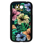 Hibiscus Dream Samsung Galaxy Grand DUOS I9082 Case (Black) Front