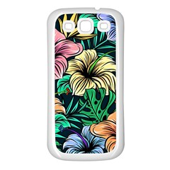Hibiscus Dream Samsung Galaxy S3 Back Case (white)