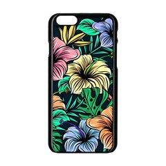 Hibiscus Dream Apple Iphone 6/6s Black Enamel Case