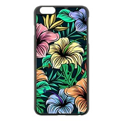 Hibiscus Dream Apple Iphone 6 Plus/6s Plus Black Enamel Case