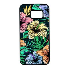 Hibiscus Dream Samsung Galaxy S7 Black Seamless Case