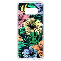 Hibiscus Dream Samsung Galaxy S8 White Seamless Case