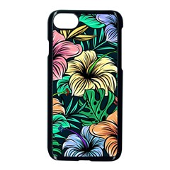 Hibiscus Dream Apple Iphone 8 Seamless Case (black)