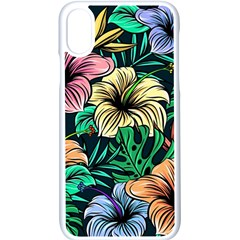 Hibiscus Dream Apple Iphone Xs Seamless Case (white)