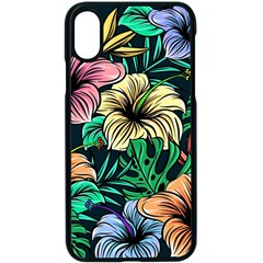 Hibiscus Dream Apple Iphone Xs Seamless Case (black)