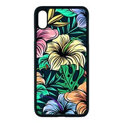 Hibiscus Dream Apple Iphone Xs Max Seamless Case (black)