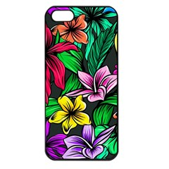 Neon Hibiscus Apple Iphone 5 Seamless Case (black)