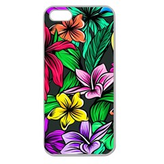 Neon Hibiscus Apple Seamless Iphone 5 Case (clear)