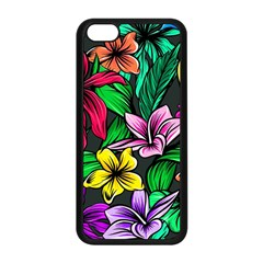Neon Hibiscus Apple Iphone 5c Seamless Case (black)