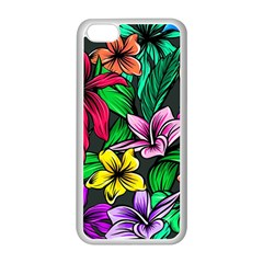 Neon Hibiscus Apple Iphone 5c Seamless Case (white)
