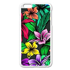 Neon Hibiscus Apple Iphone 6 Plus/6s Plus Enamel White Case