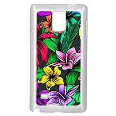 Neon Hibiscus Samsung Galaxy Note 4 Case (white)