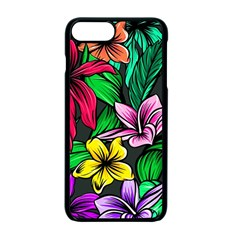 Neon Hibiscus Apple Iphone 7 Plus Seamless Case (black)