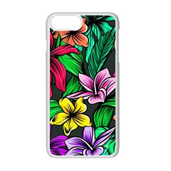 Neon Hibiscus Apple Iphone 7 Plus Seamless Case (white)