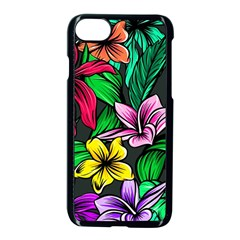 Neon Hibiscus Apple Iphone 7 Seamless Case (black)