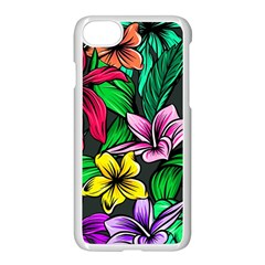 Neon Hibiscus Apple Iphone 7 Seamless Case (white)