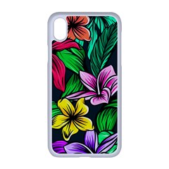 Neon Hibiscus Apple Iphone Xr Seamless Case (white)
