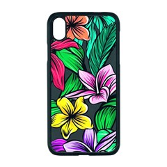 Neon Hibiscus Apple Iphone Xr Seamless Case (black)