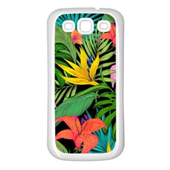 Tropical Adventure Samsung Galaxy S3 Back Case (white)