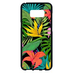 Tropical Adventure Samsung Galaxy S8 Plus Black Seamless Case