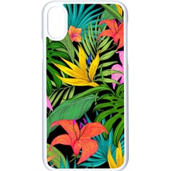 Tropical Adventure Apple Iphone X Seamless Case (white)