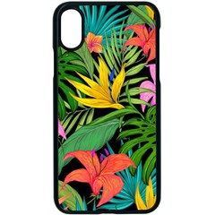 Tropical Adventure Apple Iphone X Seamless Case (black)