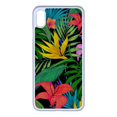 Tropical Adventure Apple Iphone Xs Max Seamless Case (white)