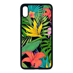 Tropical Adventure Apple Iphone Xs Max Seamless Case (black)