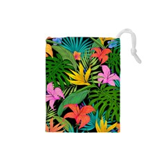 Tropical Adventure Drawstring Pouch (small)