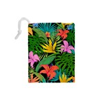 Tropical Adventure Drawstring Pouch (Small) Back