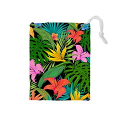 Tropical Adventure Drawstring Pouch (medium)