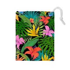 Tropical Adventure Drawstring Pouch (large)