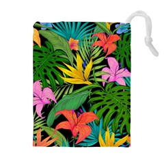 Tropical Adventure Drawstring Pouch (xl)