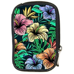 Hibiscus Dream Compact Camera Leather Case