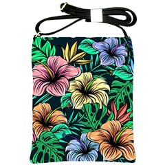 Hibiscus Dream Shoulder Sling Bag