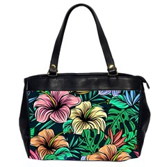 Hibiscus Dream Oversize Office Handbag (2 Sides)