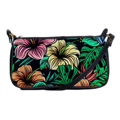 Hibiscus Dream Shoulder Clutch Bag