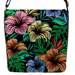 Hibiscus Dream Flap Closure Messenger Bag (s)