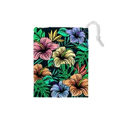 Hibiscus Dream Drawstring Pouch (small)