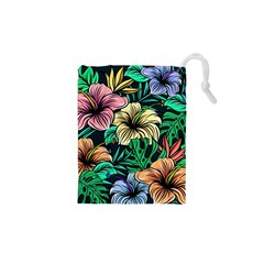Hibiscus Dream Drawstring Pouch (xs)