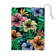 Hibiscus Dream Drawstring Pouch (xl)