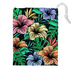 Hibiscus Dream Drawstring Pouch (xxl)