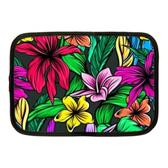 Neon Hibiscus Netbook Case (medium)