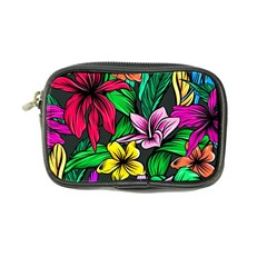 Neon Hibiscus Coin Purse