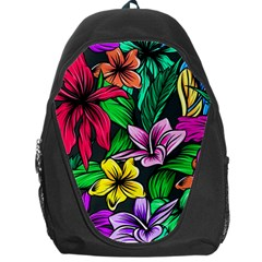 Neon Hibiscus Backpack Bag
