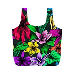 Neon Hibiscus Full Print Recycle Bag (m)