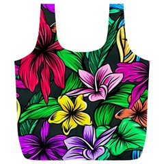 Neon Hibiscus Full Print Recycle Bag (xl)