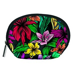 Neon Hibiscus Accessory Pouch (medium)