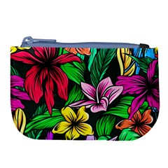 Neon Hibiscus Large Coin Purse